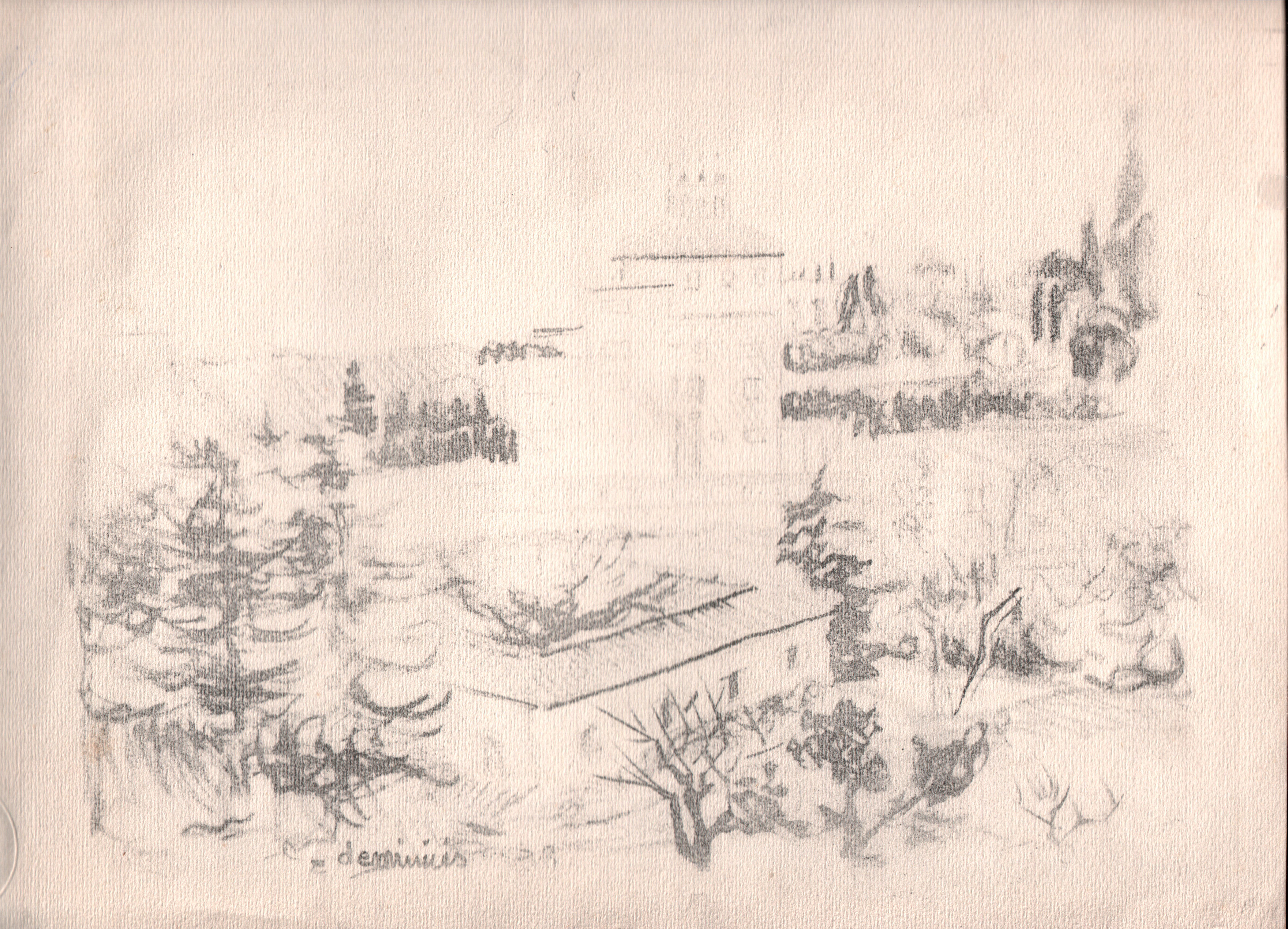 Disegni ed acquerelli di diego de minicis for Disegni paesaggi semplici